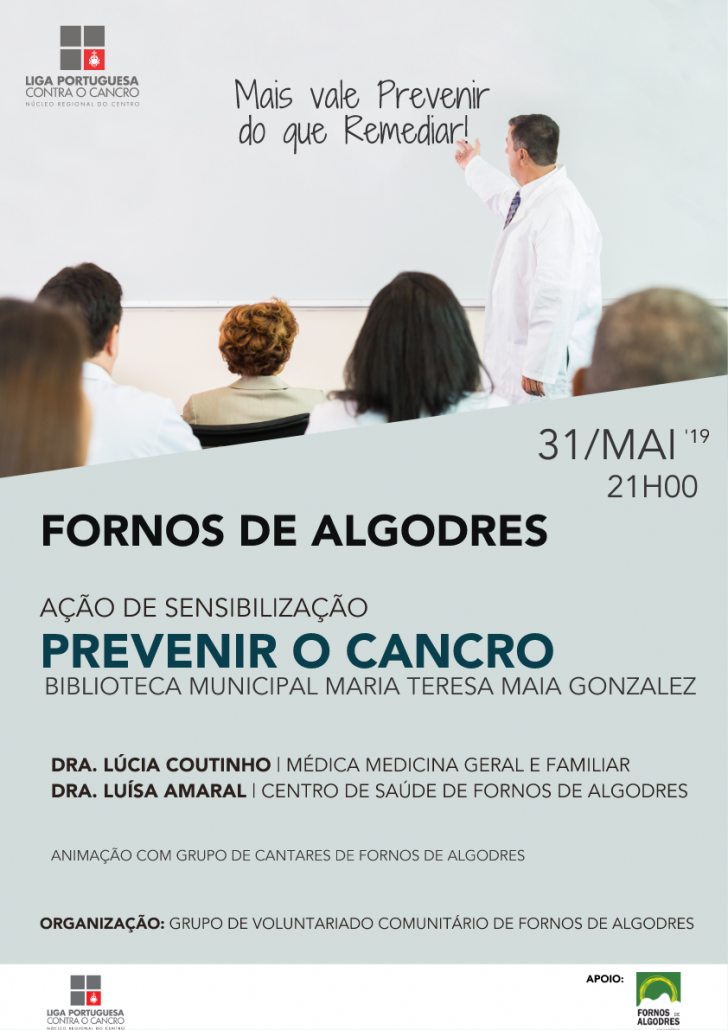"""Ação """"Prevenir o Cancro"""" decorre esta noite na Biblioteca Municipal de Fornos de Algodres"""