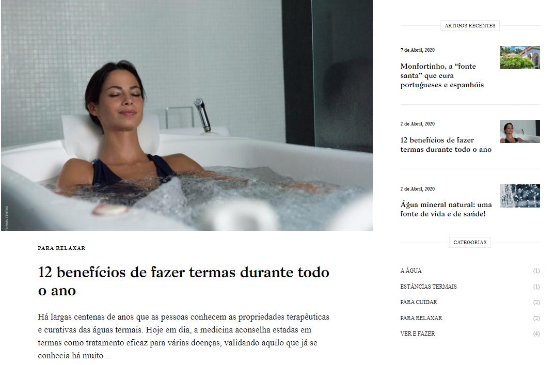 Termas Centro lançam novo blogue promocional já a pensar na reabertura